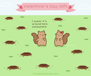comic, squirrel, and Valentine's Day image