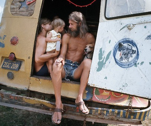 blonde, car, and children image