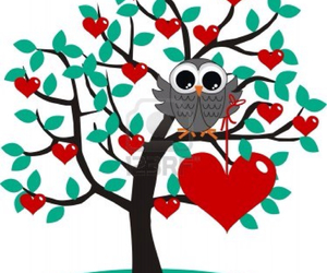 heart, owl, and tree image