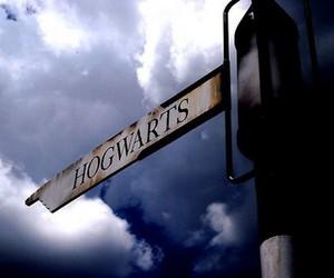 hogwarts, harry potter, and sign image