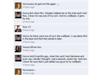 the hangover, facebook status, and harry potter facebook image