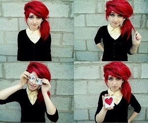 girl, scene, and red hair image