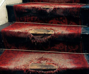 stairs, red, and old image