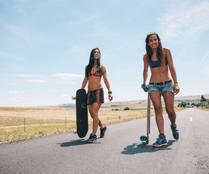 longboard, longboarding, and skater image