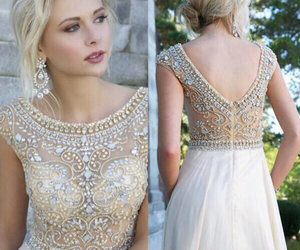 blonde, Prom, and dress image