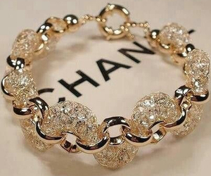 chanel, bracelet, and gold image