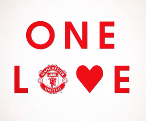 love, manchester united, and soccer image