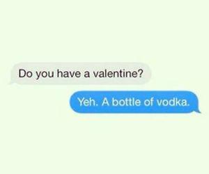 vodka, valentine, and bottle image