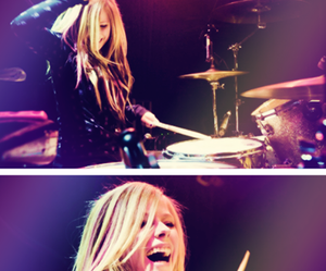 Avril Lavigne and drums image