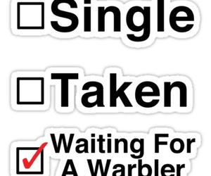 glee, single, and waiting image