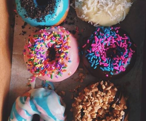 american, donuts, and food image