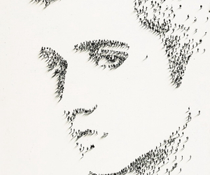 drawing, Elvis Presley, and tiny people image