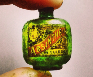 absinthe, bottle, and gothic image