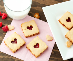 Cookies, raspberry, and Valentine's Day image