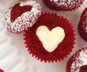 cupcakes, dessert, and heart image