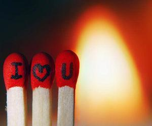 fire, heart, and I Love You image