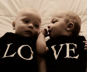 baby, love, and twins image