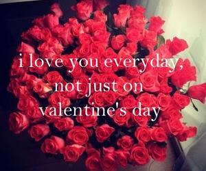 red, roses, and valentine image