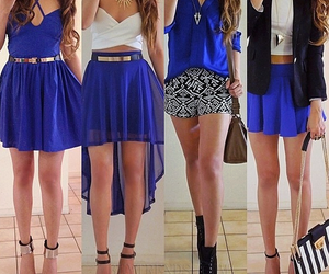 outfit, blue, and fashion image