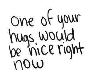 hug, love, and quote image