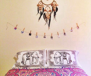 elephant, bed, and bedroom image