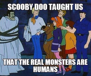 monster, scooby doo, and humans image