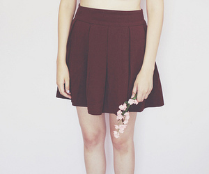 flowers, skirt, and fashion image