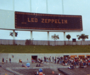 led zeppelin, concert, and vintage image