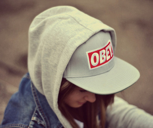 girl, obey, and cap image