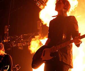 mikey way, my chemical romance, and fire image