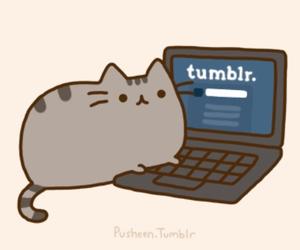 tumblr, cat, and pusheen image