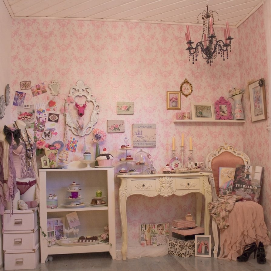 antique, pink, room, shabby, vintage - inspiring picture on ...