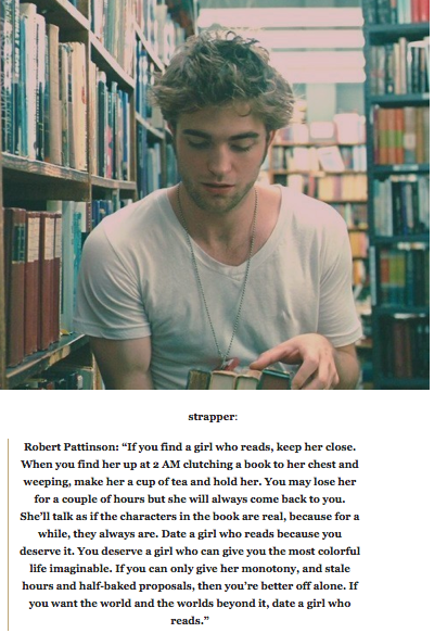 Quote about dating a girl who reads