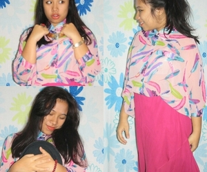 girl, indonesia, and pink image