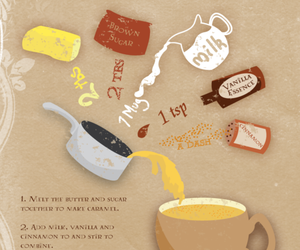 awesome, harry potter, and butterbeer latte image