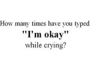 crying, okay, and sad image