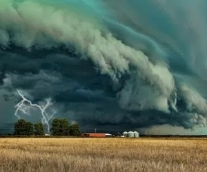 lightning, storm, and wheat field image