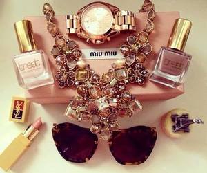 miu miu, accessories, and lipstick image