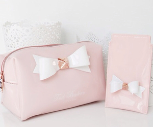 pink, ted baker, and bow image