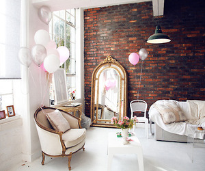 room, balloons, and design image