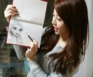 draw, kpop, and kim ah young image