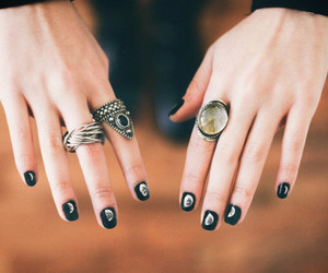 nails, rings, and hands image