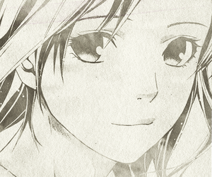 black and white, girl, and manga image