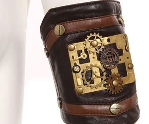 gothic, steampunk, and wristband image