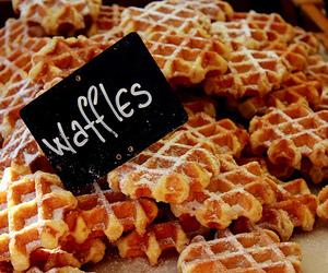 waffles, food, and yummy image