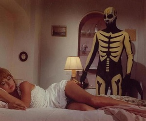 60s, skeleton, and art image