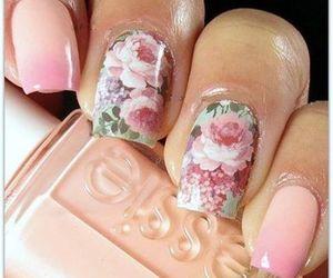 flowers, nailart, and nails image
