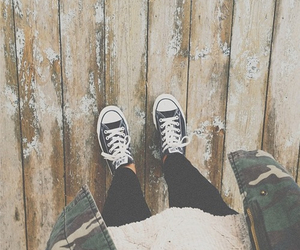 converse, hipster, and outfit image