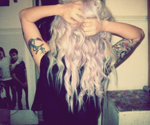 blonde, dye, and dyed hair image