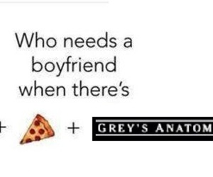 lol, grey's anatomy, and pizza image